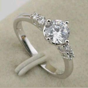 Sz 6 cz white gold filled ring
